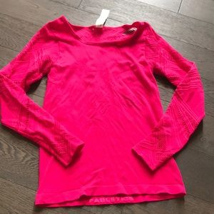 Fabletics Long Sleeve Hot Pink Top